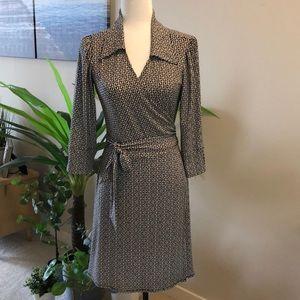 Laundry by design wrap around tie dress size 8